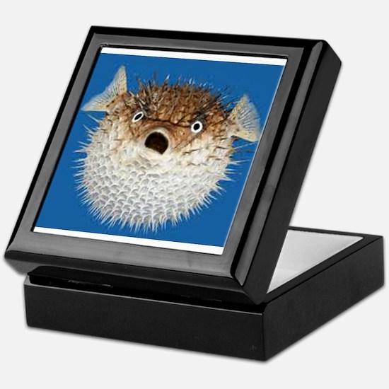 Blow Fish Face Keepsake Box