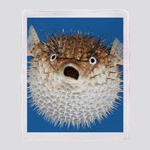 Blow Fish Face Throw Blanket