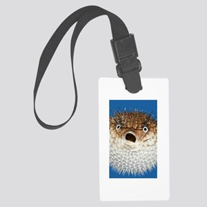 Blow Fish Face Large Luggage Tag