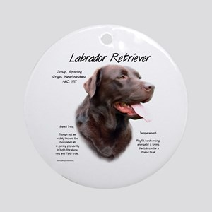 Chocolate Lab Round Ornament