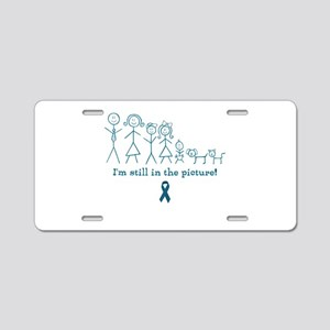 Teal Family Aluminum License Plate
