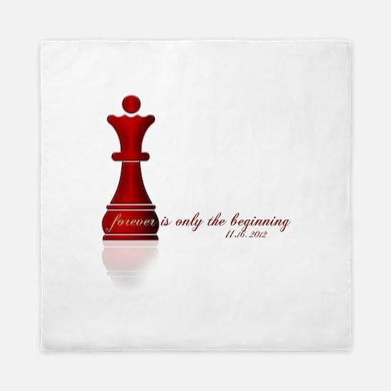 Chess Queen Forever is the Beginning Queen Duvet