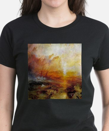 Slave Ship by Turner Women's Dark T-Shirt
