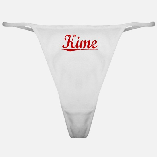 Kime, Vintage Red Classic Thong