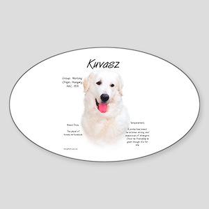 Kuvasz Oval Sticker