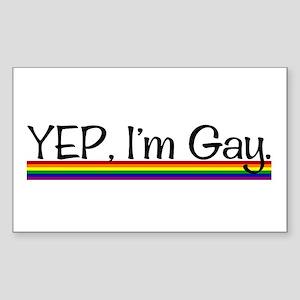Yep Rectangle Sticker