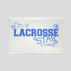 Lacrosse star Rectangle Magnet