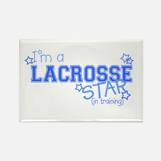 Lacrosse star Rectangle Magnet