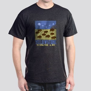 Yellowstone Park Night Sky Dark T-Shirt