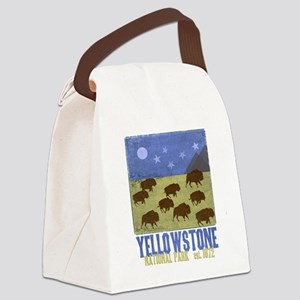 Yellowstone Park Night Sky Canvas Lunch Bag