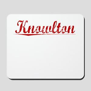 Knowlton, Vintage Red Mousepad