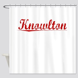 Knowlton, Vintage Red Shower Curtain