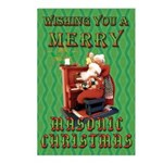 Santa and the Mrs. Masonic Card Postcards (Package