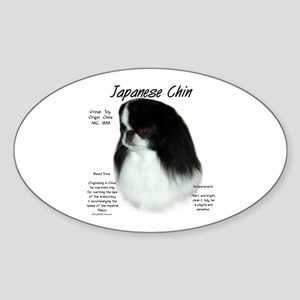 Japanese Chin Sticker (Oval)