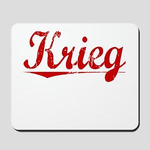 Krieg, Vintage Red Mousepad