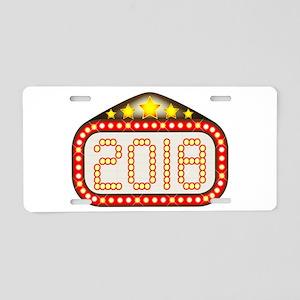 2018 Movie Theatre Marquee Aluminum License Plate