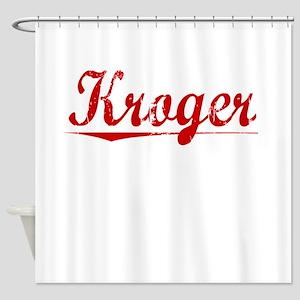 Kroger, Vintage Red Shower Curtain