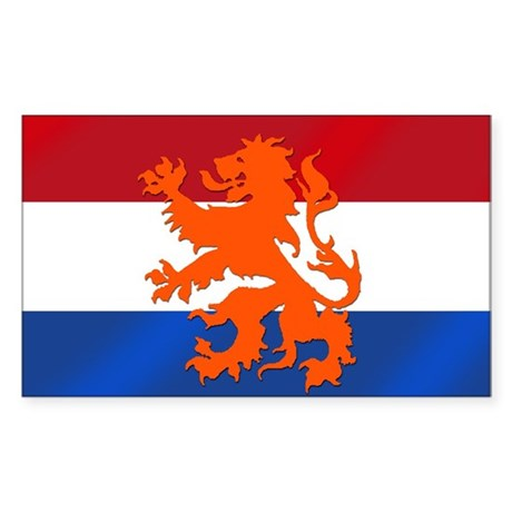 Holland Lion Sticker (Rectangle)