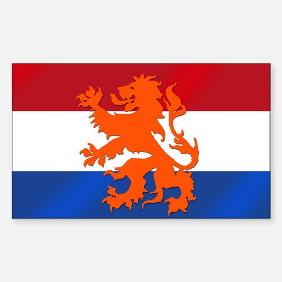 Holland Lion Sticker (Rectangle)