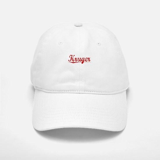 Kruger, Vintage Red Baseball Baseball Cap