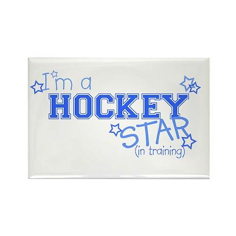 Hockey star Rectangle Magnet
