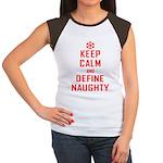 Keep Calm Define Naughty Women's Cap Sleeve T-Shir