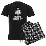 Keep Calm Define Naughty Men's Dark Pajamas