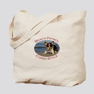 Beach Patrol Corgi Style Tote Bag