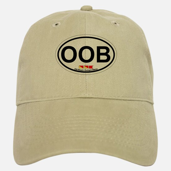 Old Orchard Beach ME - Oval Design. Baseball Baseball Cap