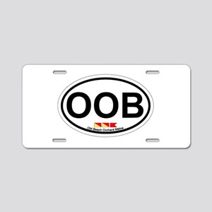 Old Orchard Beach ME - Oval Design. Aluminum Licen