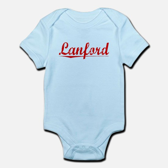 Lanford, Vintage Red Infant Bodysuit