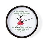 I Told Santa Wall Clock