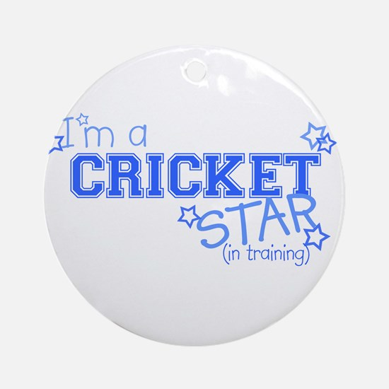 Cricket star Ornament (Round)