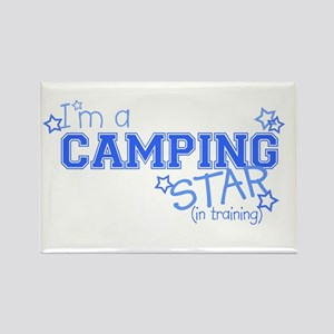 Camping star Rectangle Magnet