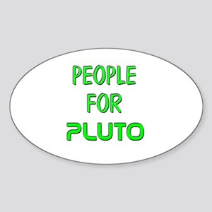 People for Pluto (G) Oval Sticker