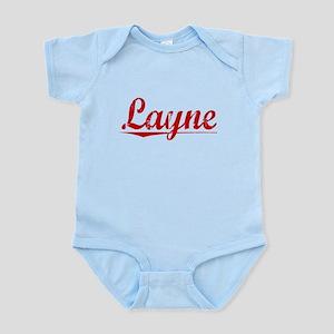 Layne, Vintage Red Infant Bodysuit