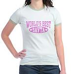 World's Best Savta Jr. Ringer T-Shirt