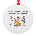 Fun And Games Round Ornament