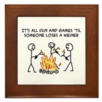 Fun And Games Framed Tile