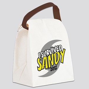 I Survived SANDY Canvas Lunch Bag