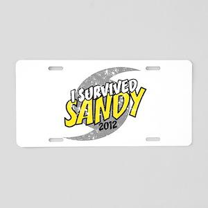 I Survived SANDY Aluminum License Plate