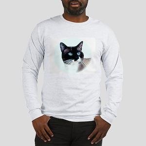 Snowshoe Cat Head Long Sleeve T-Shirt