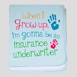 Future Insurance Underwriter baby blanket