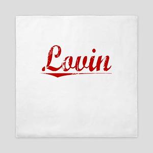 Lovin, Vintage Red Queen Duvet