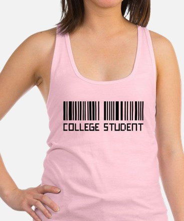 College Student, Barcode Racerback Tank Top