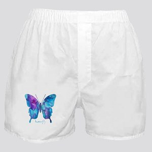 Electric Blue Butterfly Boxer Shorts