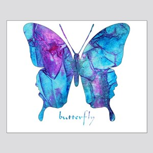 Electric Blue Butterfly Small Poster