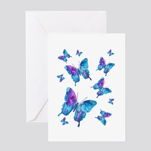 Electric Blue Butterfly Greeting Card