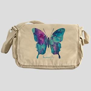 Electric Blue Butterfly Messenger Bag