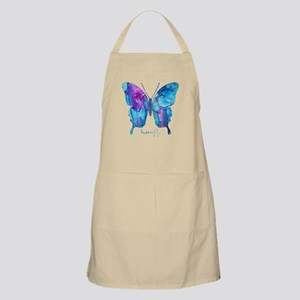 Electric Blue Butterfly Apron